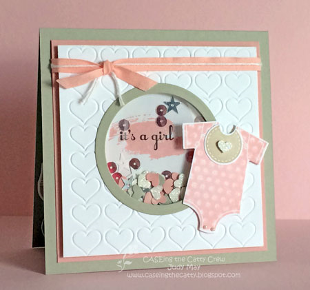 Stampin' Up! 'Something for Baby' Shaker Card - Judy May - Just Judy Designs