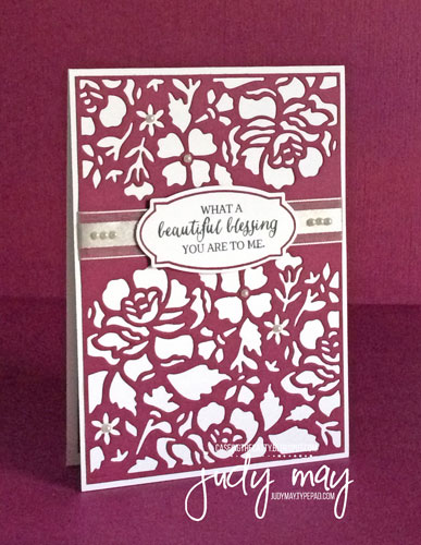 Stampin' Up! Detailed Floral Thinlits Die for CASE-ing the Catty CTC86 - Judy May, Just Judy Designs