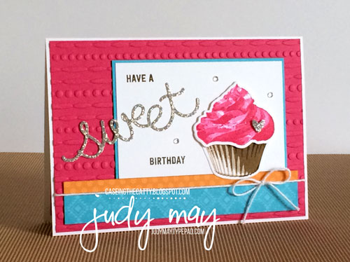 Stampin' Up! Festive TIEF, Sweet Cupcake & Cupcake Cutouts Framelits for CTC91 - Judy May, Just Judy Designs