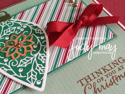 Stampin' Up! Embellished Ornaments with Presents & Pinecones DSP - Judy May, Just Judy Designs