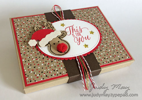 Stampin' Up! Envelope Punch Board Gift Card Holder - Judy May, Just Judy Designs