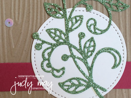 Stampin' Up! Flourish Thinlits & Cottage Greetings for CASE-ing the Catty - Judy May, Just Judy Designs
