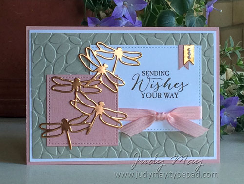 Stampin' Up! Butterfly Basics & Detailed Dragonfly Thinlits for OnStage Perth 2017 Swap - Judy May, Just Judy Designs