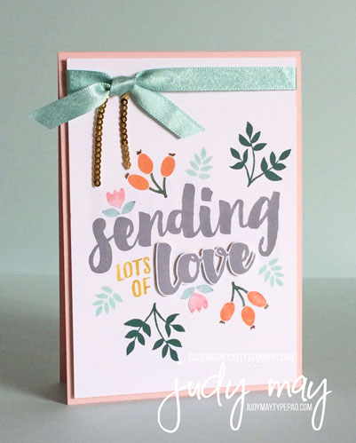 Stampin' Up! Lots of Love for CASE-ing the Catty - Judy May, Just Judy Designs