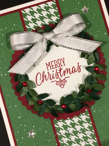Stampin' Up! Boxwood Wreath for The Heart of Christmas - Judy May, Just Judy Designs
