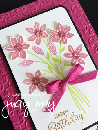 Stampin' Up! Beautiful Bouquet for CASE-ing the Catty - Judy May, Just Judy Designs