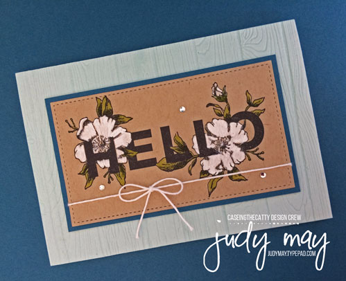 Stampin' Up! Floral Statements for CASE-ing the Catty - Judy May, Just Judy Designs