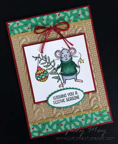 Stampin' Up! Merry Mice & Cable Knit Embossing Folder - Judy May, Just Judy Designs