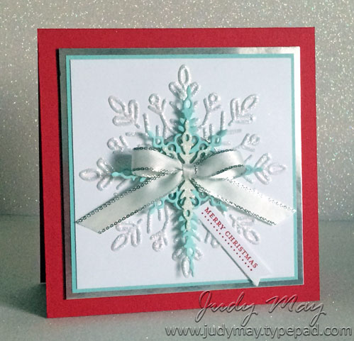 Stampin' Up! Winter Wonder EF & Starlight Thinlits - Judy May, Just Judy Designs