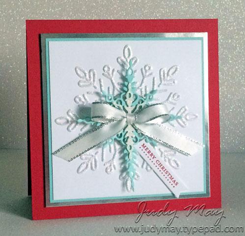 Stampin' Up! Winter Wonder EF & Starlight Thinlits - Judy May, Just Judy Designs