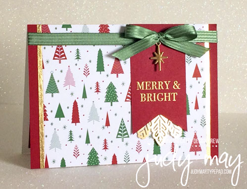 Stampin' Up! Year of Cheer with Be Merry DSP - Judy May, Just Judy Designs