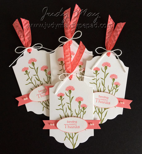 Stampin' Up! Wild About Flowers Tags - Judy May, Just Judy Designs