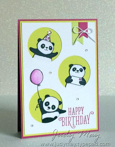 Stampin' Up! Party Pandas - Judy May, Just Judy Designs