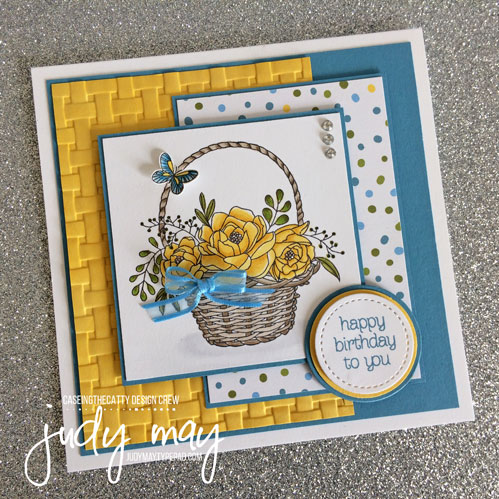 Stampin' Up! Blossoming Basket & Basket Weave Dynamic TIEF - Judy May, Just Judy Designs