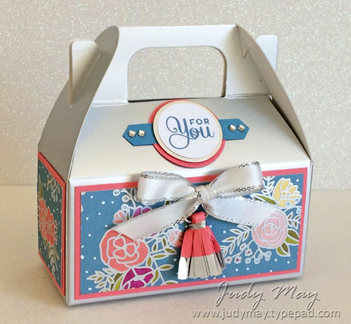 Stampin' Up! Silver Mini Gable Boxes - Judy May, Just Judy Designs