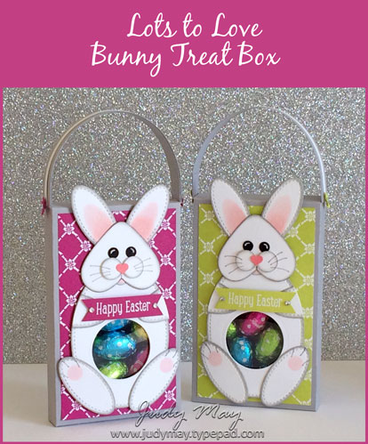 Stampin' Up! Lots to Love Bunny Treat Box - Judy May, Just Judy Designs