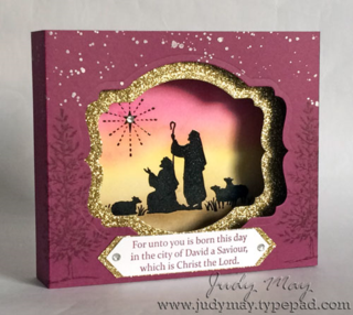 Stamping Up 'Every Blessing' Diorama. Judy May, Just Judy Designs