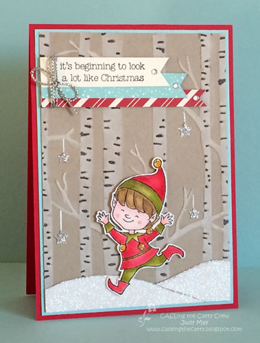 Stampin' Up! 'Christmas Cuties' and 'Woodland' TIEF - Judy May, Just Judy Designs.