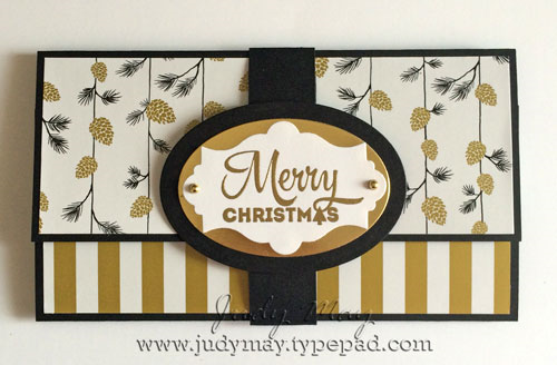 Stampin' Up! Gift Card Holder with Wonderland DSP
