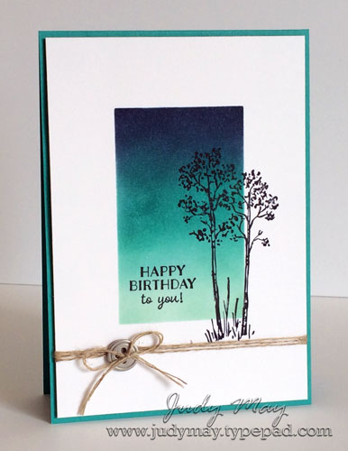 Stampin' Up! Reverse Masking with In the Meadow and Party Pants