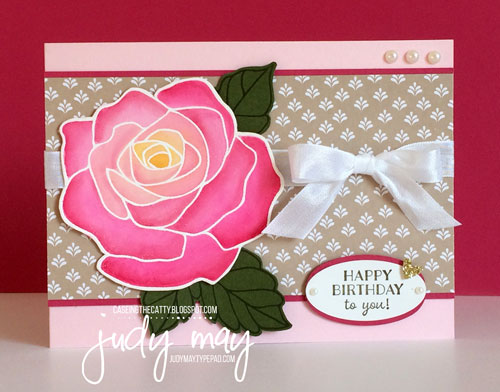 Stampin' Up! Rose Wonder, Love Blossoms DSP Stack - Judy May, Just Judy Designs