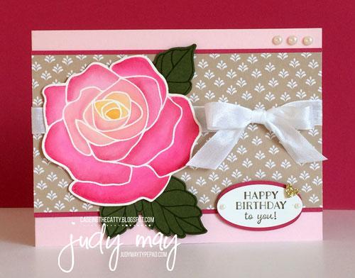 Stampin' Up! Rose Wonder, Love Blossoms DSP Stack - Judy May, Just Judy Designs