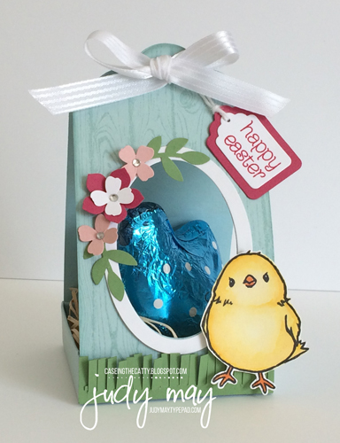 Stampin' Up! Easter Hen Treat Box with Honeycomb Happiness - Judy May, Just Judy Designs