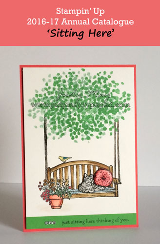 Stampin' Up! Sneak Peak 'Sitting Here' - Judy May, Just Judy Designs