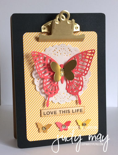 Stampin' Up! 'Enjoy the Little Things Kit'  Butterflies changed up - Judy May, Just Judy Designs