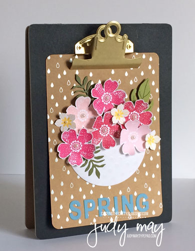 Stampin' Up! Spring In the style of 'Enjoy the Little Things' kit - Judy May, Just Judy Designs