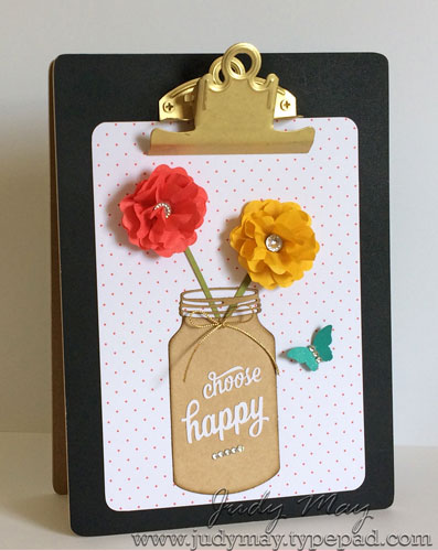 Stampin' Up! Changed-up Card 3 from 'Enjoy the Little Things' kit - Judy May, Just Judy Designs