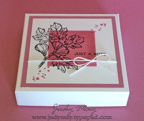Stampin' Up! Fabulous Flora & Sweet Sugarplum Note card Box - Judy May, Just Judy Designs
