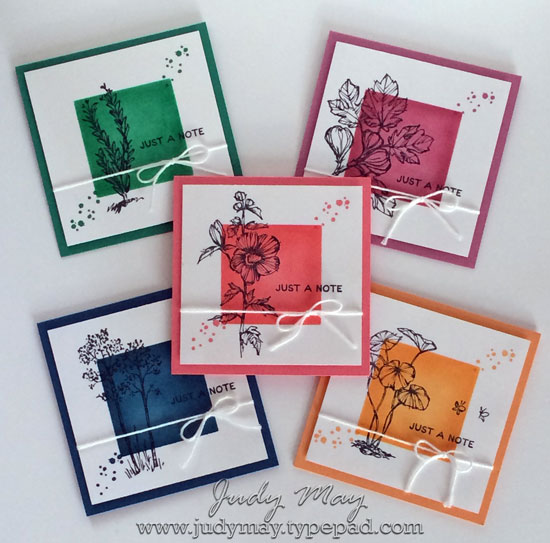 Stampin' Up! 2016-18 In Colour Note Cards with Fabulous Flora (Hostess) - Judy May, Just Judy Designs