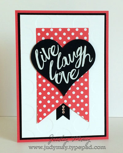 Stampin' Up! Layering Love using Sweet & Sassy Framelits - Judy May, Just Judy Designs