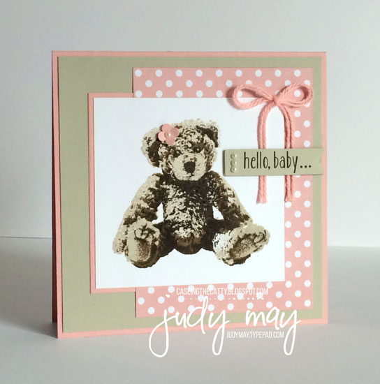 Stampin' Up! Baby Bear for CASE-ing the Cattty (CTC85) - Judy May, Just Judy Designs