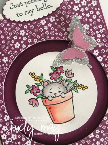 Stampin' Up! Circle Spinner card for CTC92 - Judy May, Just Judy Designs