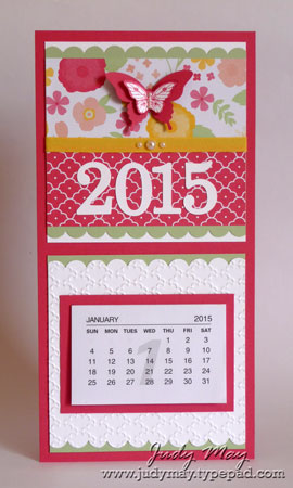Stampin' Up! Fridge Mini Calendar - Judy May, Just Judy Designs