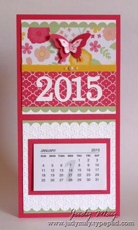 Stampin' Up! Fridge Mini Calendar - Judy May, Just Judy Designs