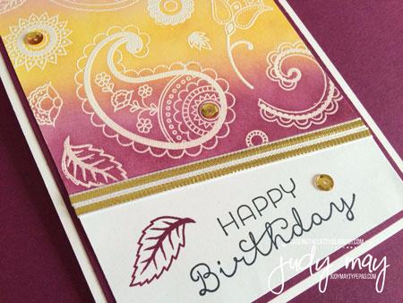 Stampin' Up! Petals & Paisleys for CTC104 - Judy May, Just Judy Designs
