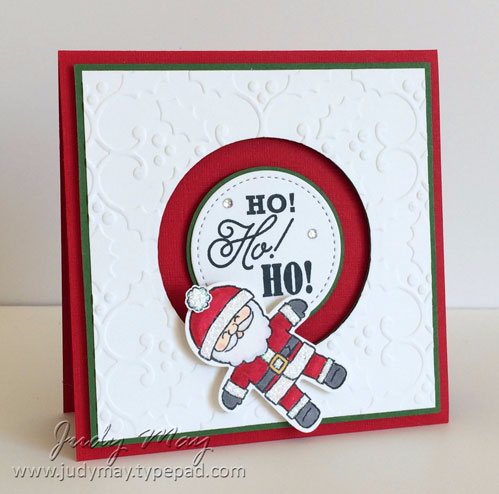 Stampin' Up! Cookie Cutter Christmas Spinner Card - Judy May, Just Judy Designs
