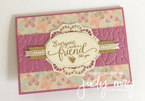Stampin' Up! Falling in Love DSP & Suite Sentiments for CASE-ing the Catty - Judy May, Just Judy Designs