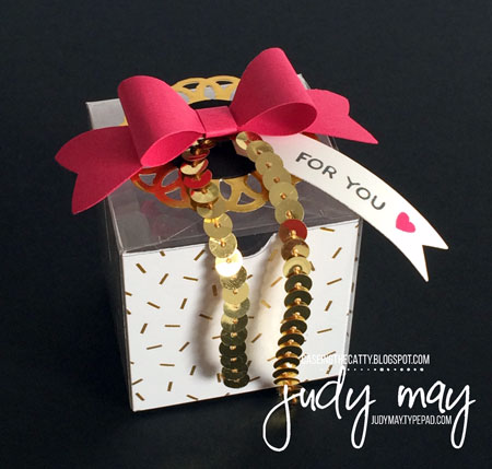 Stampin' Up! Pop of Pink Gift Packaging for CASE-ing the Catty - Judy May, Just Judy Designs