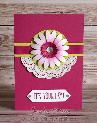 Stampin' Up! Daisy Punch & Happy Birthday Gorgeous - Judy May, Just Judy Designs