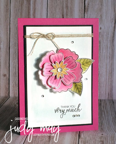Stampin' Up! Bunch of Blossoms for CASE-ing the Catty - Judy May, Just Judy Designs
