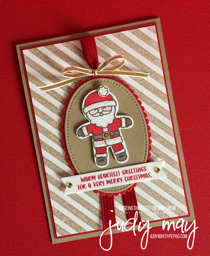 Stampin' Up! Cookie-Cutter Christmas for CASE-ing the Catty - Judy May, Just Judy Designs