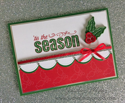 Stampin' Up! Merry Patterns for The Heart of Christmas - Judy May, Just Judy Designs