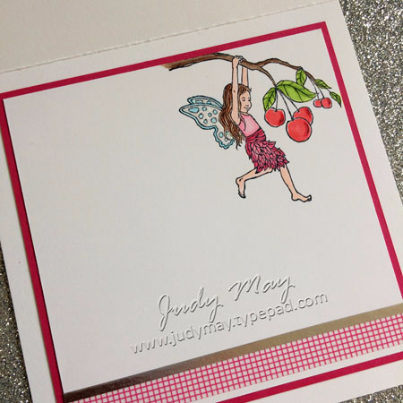 Stampin' Up! Fairy Celebration Spinner Card - Judy May, Just Judy Designs
