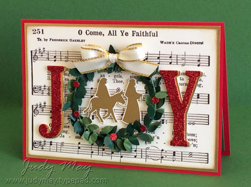 Stampin' Up! Night in Bethlehem & Boxwood Wreath - Judy May, Just Judy Designs