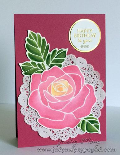 Stampin' Up! Rose Wonder - Judy May, Just Judy Designs