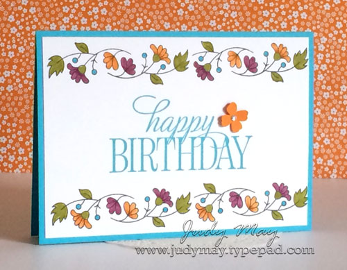 Stampin' Up! Quick Make with Bordering Blooms - Judy May, Just Judy Designs